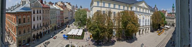 Апартаменти на площі Ринок, 20. Краєвид з вікна