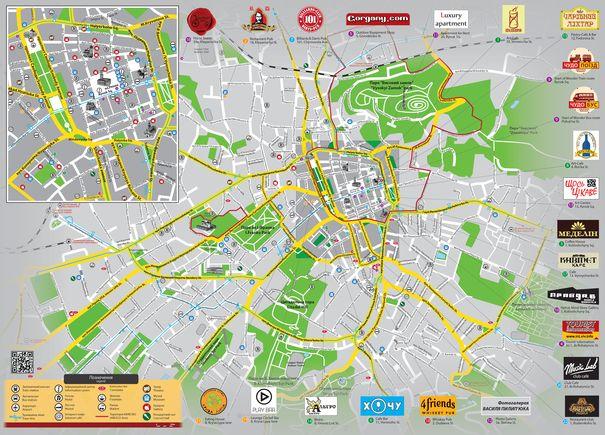 Буклет «LvivOnline. Схема міста». Зима'11/12