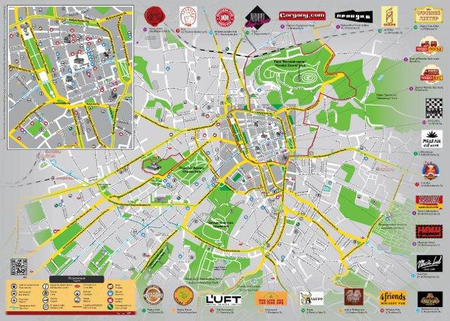 Буклет «LvivOnline. Карта міста». Зима'12/13
