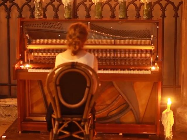 Вуличне піаніно у Львові