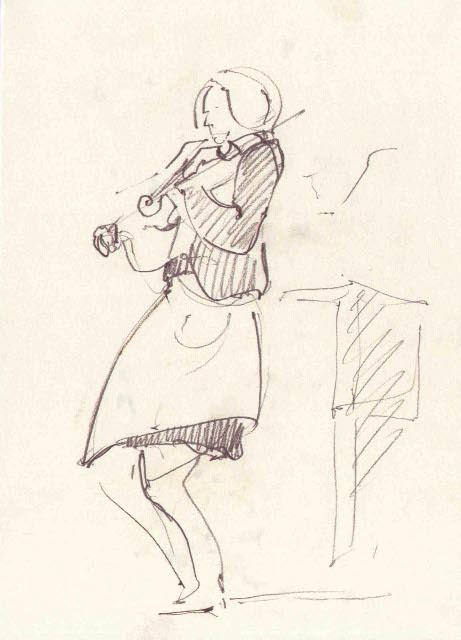 «Dominika Rusinowska Quartet». Шкіц з XIV Jazz Bez. Автор: Юстина Могитич