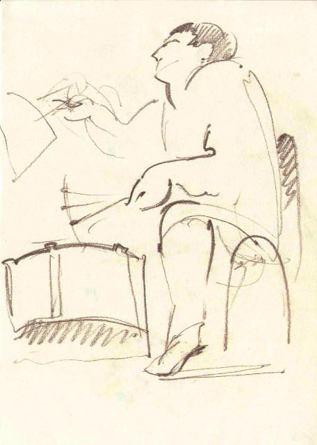 Marc Bernstein Quartet «Kibrick». Шкіц з XIV Jazz Bez. Автор: Юстина Могитич