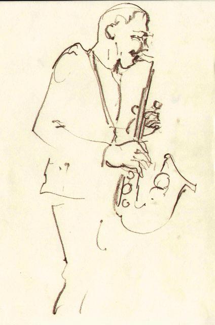 «OH Group». Шкіц з XIV Jazz Bez. Автор: Юстина Могитич