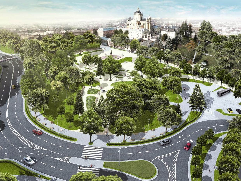 Опубліковано оновлений проект площі перед собором Святого Юра