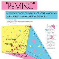 Виставка робіт студентів ЛНАМ «Ремікс»