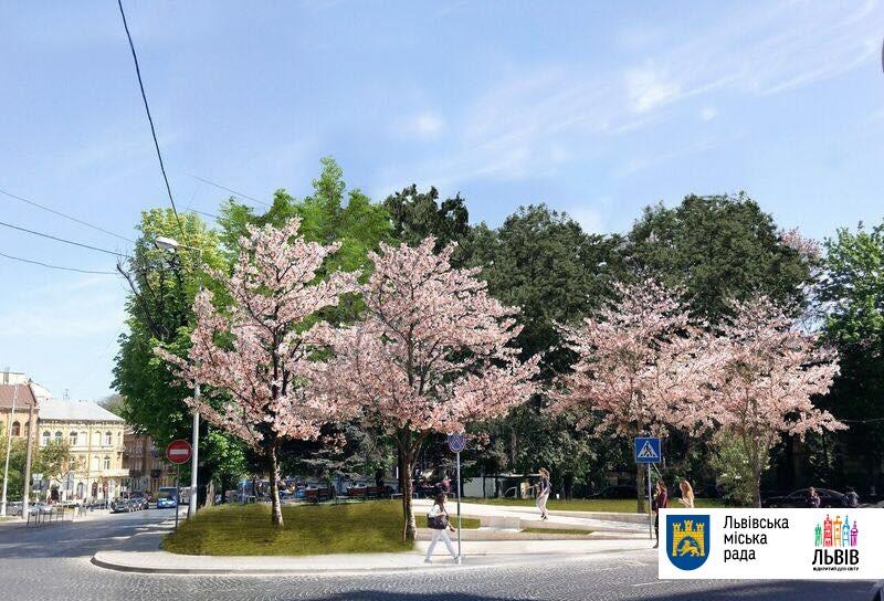 Громадський простір на площі Яцека Куроня