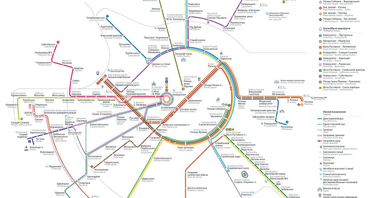 Новий дизайн схеми руху електротрапспорту у Львові