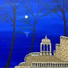 Виставка Софії Кульчицької «Ультрамаринові небеса»