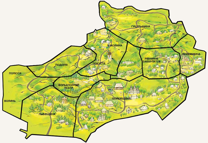 Шевченківський гай. Карта