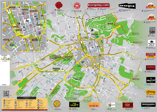 Буклет «LvivOnline. Карта міста». Літо'13