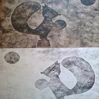 Майстер-клас «Осіння гравюра на картоні»