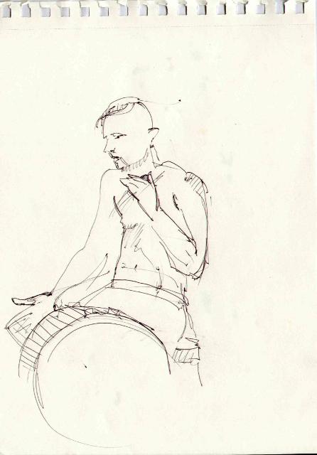 Шкіци гурту Joryj Kłoc зі «Свята святого Макогона Жовтневого 2014». Автор Юстина Могитич