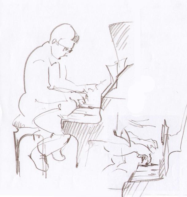 «Dima Bondarev Quintet». Шкіц з XIV Jazz Bez. Автор: Юстина Могитич