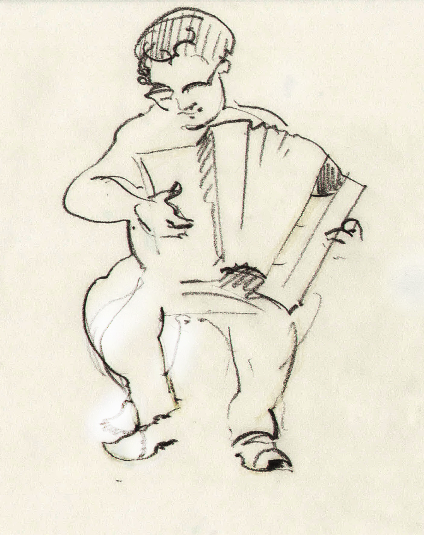 Шкіц з XIV Jazz Bez. Pre-party. Автор Юстина Могитич
