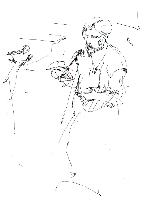 Фестиваль нової української музики #SVOЇ. Автор шкіців: Юстина Могитич