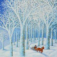 Виставка Ольги Кваші «Їде грудень на коні»