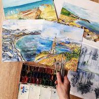 Виставка Марини Ковальчук Watercolor Impression