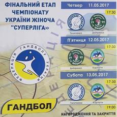 Гандбол. Фінальний етап чемпіонату України серед жіночих команд