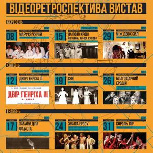 Відеоретроспектива вистав Театру ім. Леся Курбаса