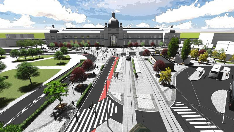 Проект реконструкції площі перед Залізничним вокзалом / пл. Двірцева