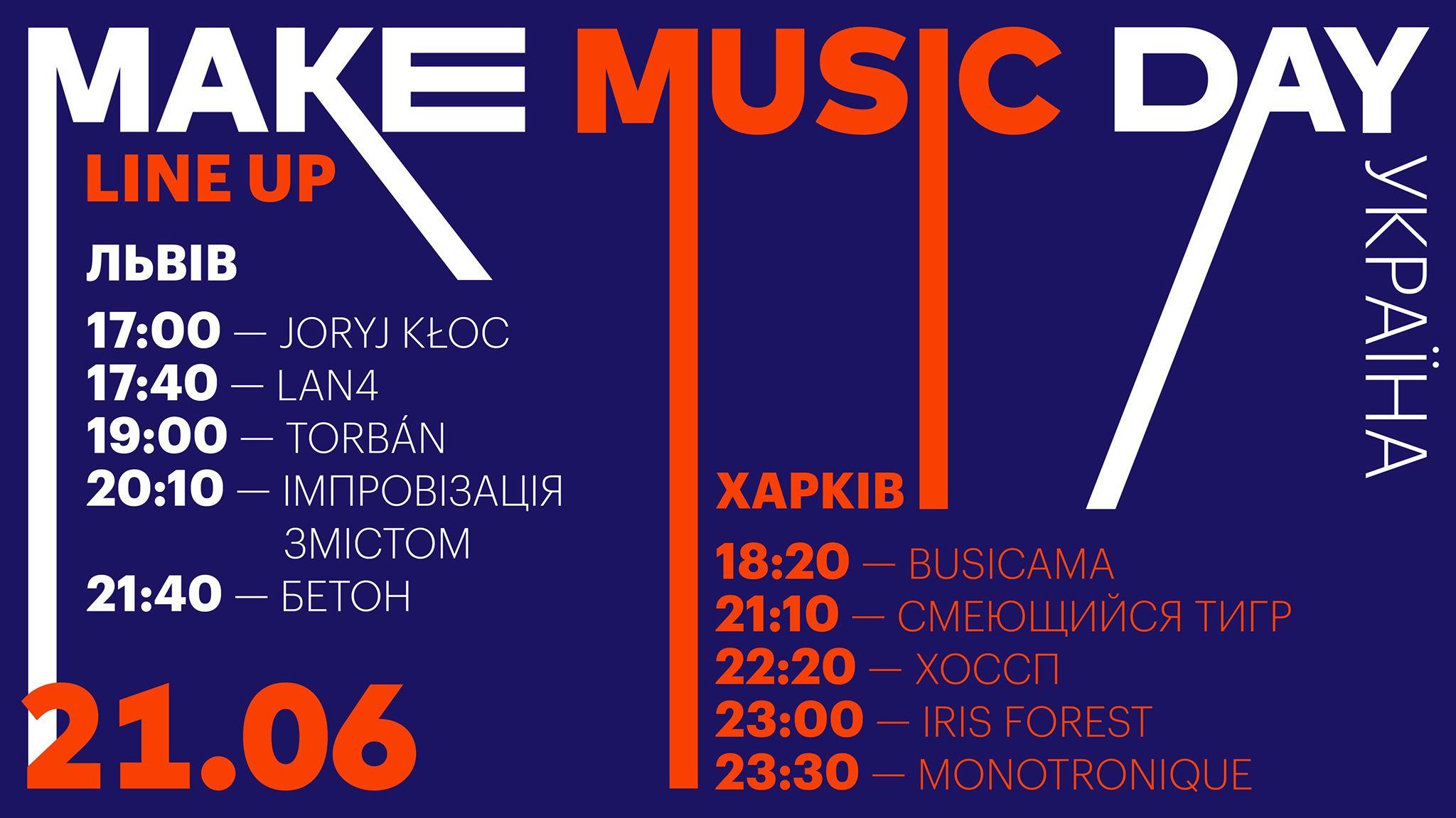 Львів та Харків влаштовують музичне свято Make Music Day Україна