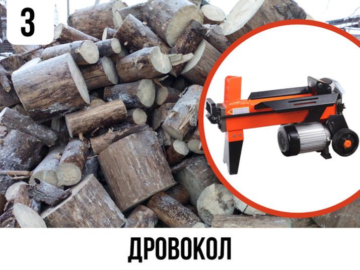 Дровокол - ідеальний пристрій для швидкої заготівлі дров на зиму