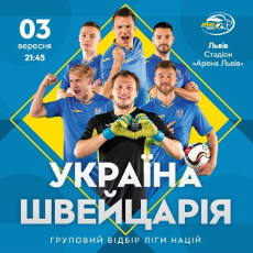 Футбол. Ліга Націй. Україна - Швейцарія